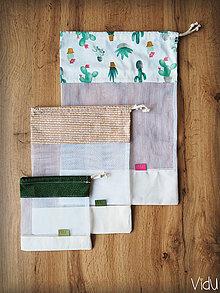 Úžitkový textil - Sada vreciek na potraviny (Béžová) - 10888695_