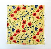 Úžitkový textil - Voskovaný obrúsok - kvety, maky - 10887387_