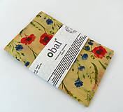 Úžitkový textil - Voskované vrecko - Kvety, maky - 10888081_