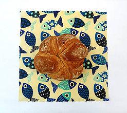 Úžitkový textil - Voskovaný obrúsok - Ryby - 10887326_