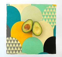 Úžitkový textil - Voskovaný obrúsok - Farebné oblúky - 10887508_