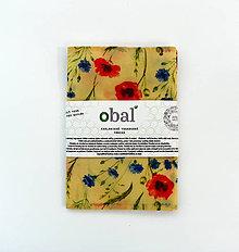 Úžitkový textil - Voskované vrecko - Kvety maky - 10888082_