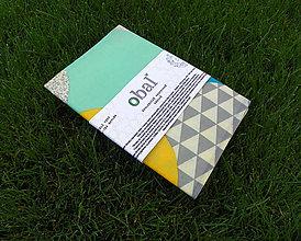 Úžitkový textil - Voskované vrecko - Farebné oblúky - 10888119_