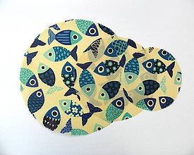 Úžitkový textil - Kruhový voskovaný obrúsok - Ryby - 10888236_