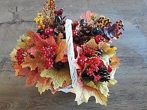 Dekorácie - Jesenný košík - 10886967_