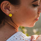 Náušnice - #bobuledousi žlté zapichovačky - 10888630_