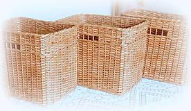 Košíky - Košík - hnedý s otvorom - 10887547_