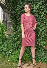 Šaty - Marsala - asymetrie - 10888845_