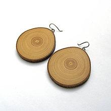 Náušnice - Drevená náušnice visiace - jaseňové rezy - 10887010_