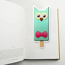 Papiernictvo - Nanuková záložka do knihy - sovička (mašlička) - 10887172_