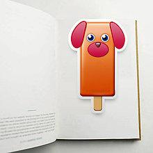 Papiernictvo - Nanuková záložka do knihy - pes (čistý) - 10887823_