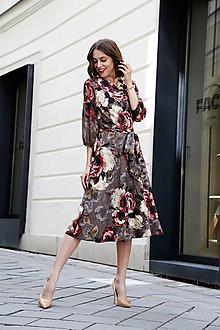 Šaty - Zavinovacie šaty Kvet (46) - 10890400_