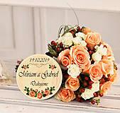 Darčeky pre svadobčanov - Svadobná magnetka - 10890156_