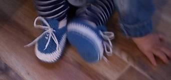 Topánočky - Háčkované tenisky (Žltá) - 10891349_