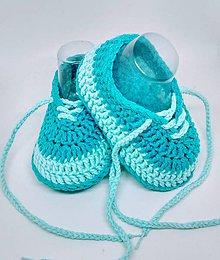 Topánočky - Háčkované tenisky - 10889928_