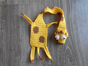 Papiernictvo - Háčkovaná záložka žirafka - 10890946_