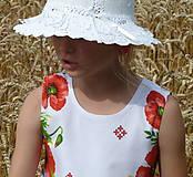 Detské oblečenie - Šatočky Maková výšivka - 10890812_