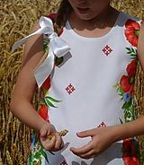 Detské oblečenie - Šatočky Maková výšivka - 10890813_