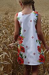 Detské oblečenie - Šatočky Maková výšivka - 10891562_