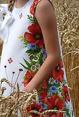 Detské oblečenie - Šatočky Maková výšivka - 10891563_