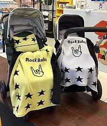 Textil - Detská deka, Rock Baby, OEKO-TEX®, žlto - čierna - 10891218_