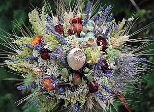Dekorácie - Sušená kytica s levanduľou - 10889039_