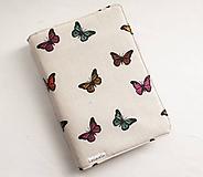 Papiernictvo - Obal na knihu - Motýle - 10889449_