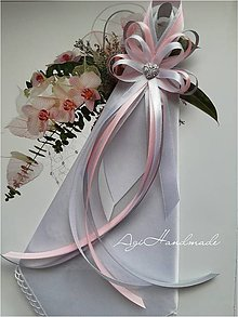Pierka - svadobné pierko s vreckovkou - 10891183_
