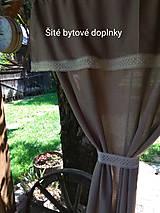 Úžitkový textil - Závesy  v hnedom - 10890024_