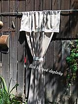 Úžitkový textil - Závesy  v hnedom - 10890028_