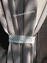 Úžitkový textil - Závesy  v hnedom - 10890029_