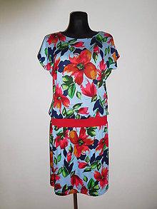 Šaty - Ohnivé květy - 10889878_