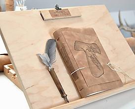 Papiernictvo - kožený zápisník FRANCESCO - 10890540_