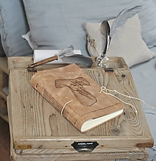 Papiernictvo - kožený zápisník FRANCESCO - 10890542_