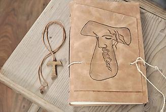 Papiernictvo - kožený zápisník FRANCESCO - 10890545_