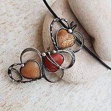 Náhrdelníky - 3HEARTS náhrdelník - 10891228_