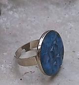 Prstene - prstienok geometric v modrom /1 - 10890928_