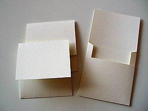 Papiernictvo - jednoduchý obal na CD/ jemne smotanový - 10889886_