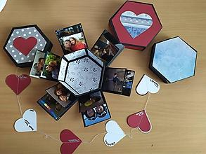 Krabičky - Hexagonal na fotky - 10890050_