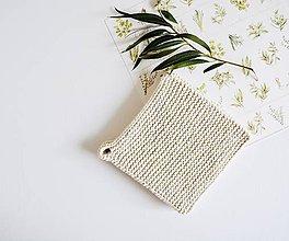 Úžitkový textil - Chňapka II EXTRA hrubá - prírodná - 10890547_