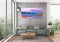 Čakanie na dážď- XL abstraktný obraz