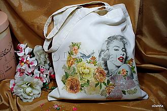 Nákupné tašky - ľanová nákupná taška Marilyn - 10890749_