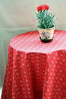 Úžitkový textil - Obrus. Vidiecký červený ako z drevenej chalúpky. - 10890155_