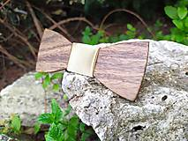 Doplnky - Drevený motýlik - 10890438_