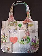 Nákupné tašky - Taška romantika na dreve - 10890518_