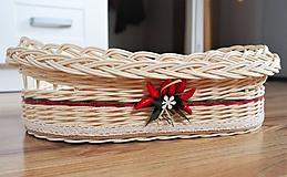 Košíky - Široký košík s čili papričkami - 10890267_