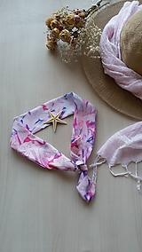Šatky - Hodvábna šatka/čelenka-Orchidea 2 - 10891151_