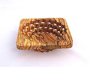 Nádoby - Drevená miska 15cm špaltovaná jelša - 10889053_