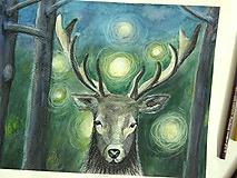 Obrazy - Strážca lesa, originál - 10889050_