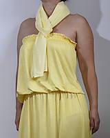 Šatky - Žltá šatka - 10891246_